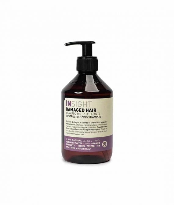 RESTRUCTURIZING SHAMPOO – Odbudowujący szampon do włosów zniszczonych 400ml INSIGHT