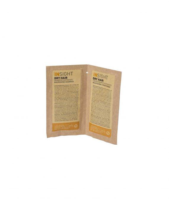 NOURISHING SHAMPOO + CONDITIONER – Próbka szampon + odżywka do suchych włosów  INSIGHT 10ml+10ml