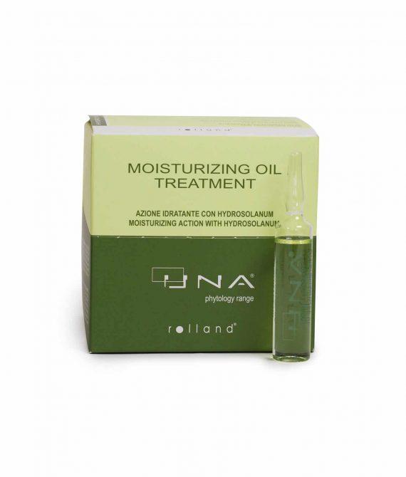 MOISTURIZING OIL TREATMENT – Kuracja silnie nawilżająca w ampułkach 12×10 ml UNA