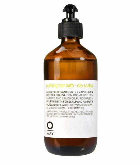 PURIFYING HAIR BATH OILY SCALPS – Szampon przeciwłupieżowy do włosów z tłustym łupieżem 240ml OWAY