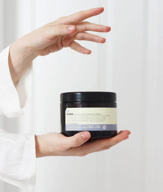 Maska do włosów blond z pigmentem – BLONDE MASK 500 ml INSIGHT